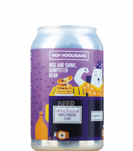 Hop Hooligans Rise and Shine, Dumpster Bear CANS 33cl