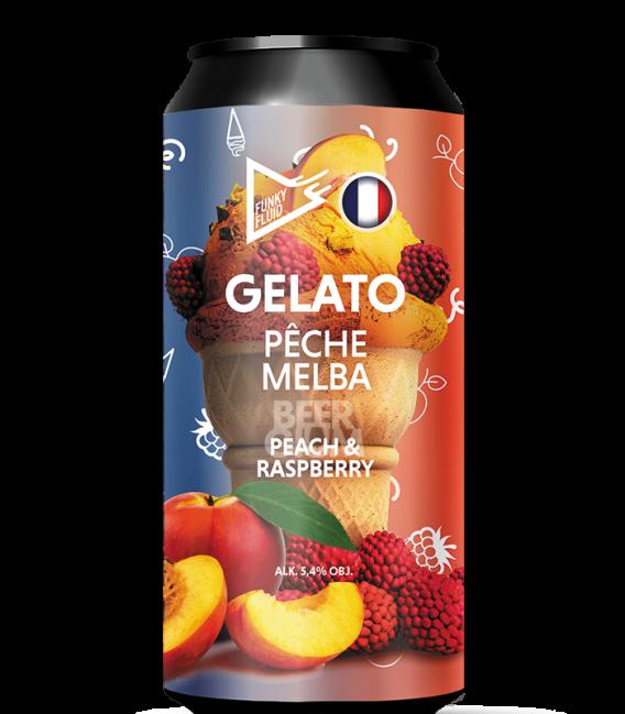Funky Fluid Gelato: Pêche Melba CANS 50cl