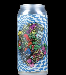 Mason Checkerboard Blue CANS 47cl