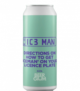 Pomona Island Directions on How to Get 'Iceman' on Your Licence Plate CANS 44cl