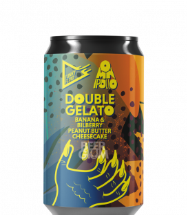 Funky Fluid / Omnipollo Double Gelato: Banana & Bilberry Peanut Butter Cheesecake CANS 33cl