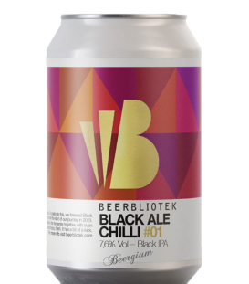 Beerbliotek Black Ale Chilli CANS 33cl