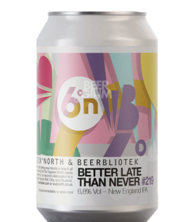 Beerbliotek / Six Degrees North Better Late Than Never CANS 33cl