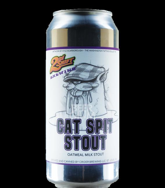 2nd Shift Cat Spit Stout CANS 47cl