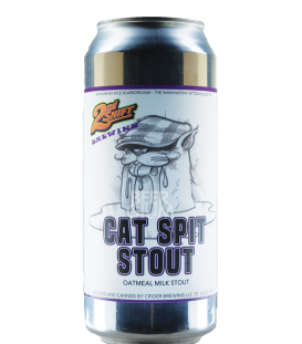 2nd Shift Cat Spit Stout CANS 47cl