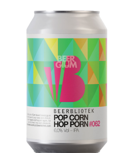 Beerbliotek Pop Corn Hop Porn IPA CANS 33cl - BBF 14-03-2020