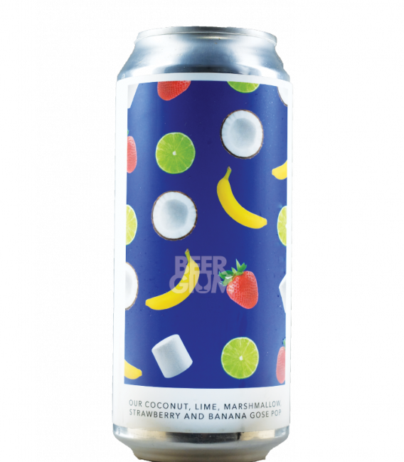 Evil Twin NYC Our Coconut, Lime, Marshmallow, Strawberry and Banana Gose Pop CANS 47cl