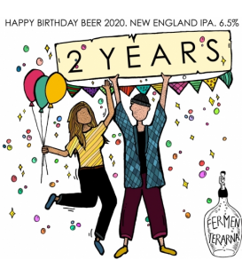 Fermenterarna 2 Years Happy Birthday Beer 2020 CROWLER 50cl