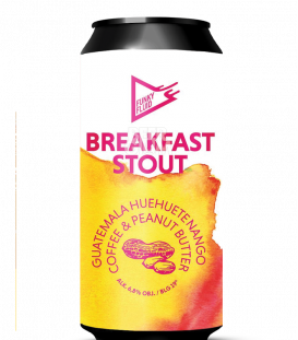 Funky Fluid Breakfast Stout: Peanut Butter & Guatemala Huethuetenango Coffee CANS 50cl