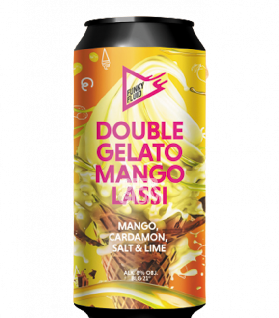 Funky Fluid Double Gelato: Mango Lassi CANS 50cl