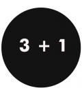 3 + 1
