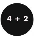 4 + 2