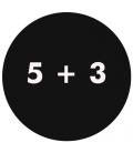 5 + 3